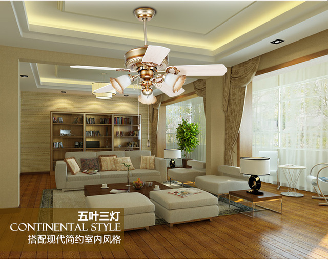 8. European Retro Fan Light Ceiling Minimalism Modern Bedroom Dining