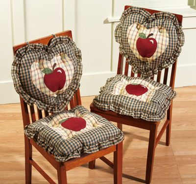 Country Plaid Check Apple Kitchen Chair Cushions. I do not like to sit on  cushions, But these are adorable for when the chairs are no…