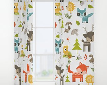 Nature of children's curtains