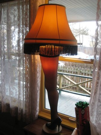 A Christmas Story House: Leg lamp in the front window