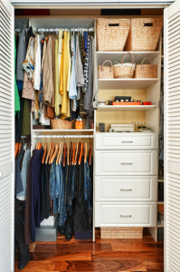 Some find it more difficult than others to constantly clean and organize a  closet. It becomes even more difficult when you have a small house and