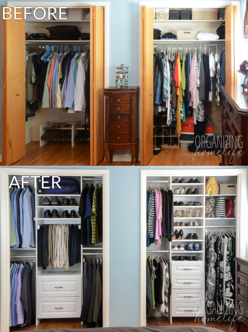 Try the best closet ideas for small   spaces on your closets: