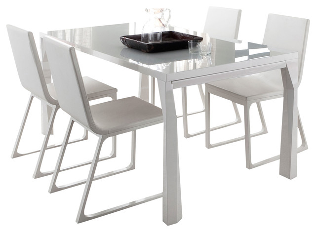 Sapphire Prisma Extendable Dining Table - Modern - Dining Tables - by Inmod