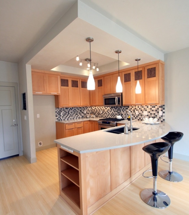 Great modern kitchen design for small space #modern #kitchen