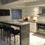 contemporary kitchen design for small   spaces : triangle work