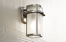 Brushed Nickel Modern Outdoor Lighting