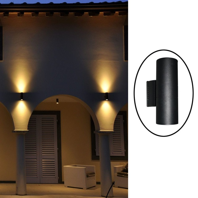 Up down contemporary outdoor wall lamp Bridgelux 6W 10W 14W 20W 30W COB LED wall  light