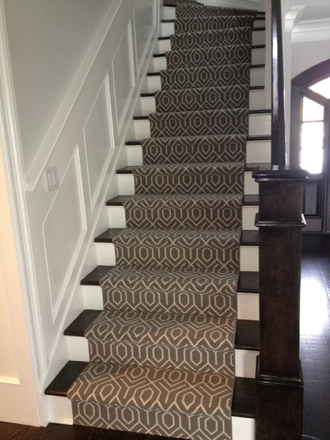 Modern Stair Runners Staircase Contemporary With Ango Area Rugs Blue