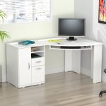 Contemporary white corner   desks