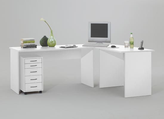 White High Gloss Corner Desk : Interior - www.getcomfee.com