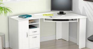 Inval Contemporary Laricina-white Corner Computer Desk - Walmart.com