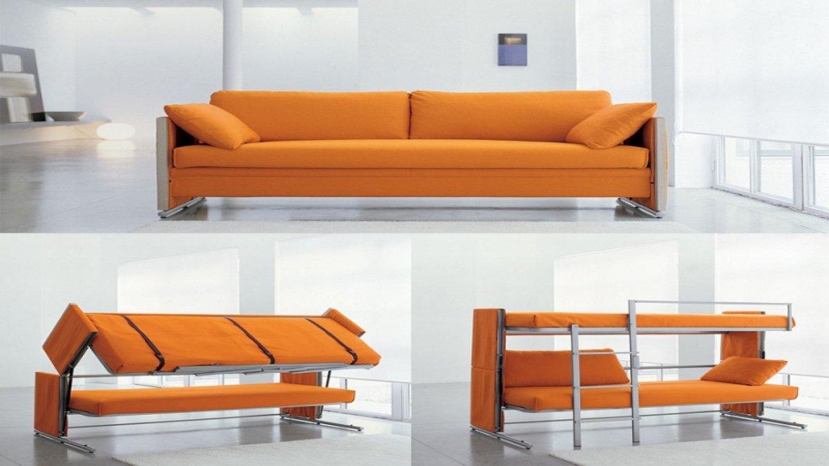 Modern sofas transforming into bunk beds