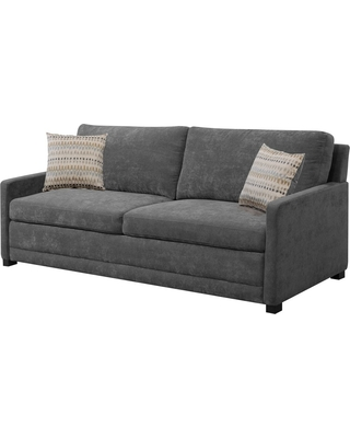 Shelby Queen Size Sleeper Sofa in Medium Gray - Serta