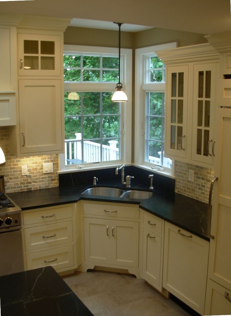 Finally - Final Kitchen Pictures #kitchensink #kitchenremodel  #kitchendesign #kitchenideas #cornerkitchensink