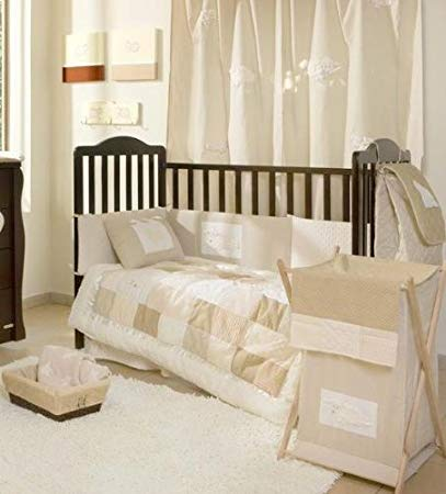 Traveller Location : Cream Sheeps Crib Bedding Collection 4 Pc Crib Bedding Set :  Modern : Baby