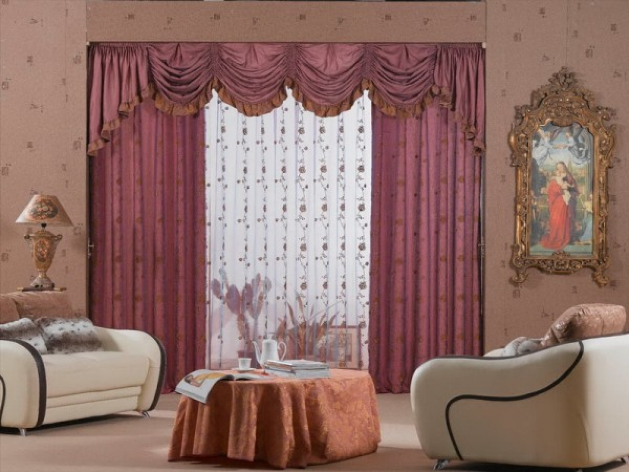 Curtain Ideas For Living Room Windows Violet Colors