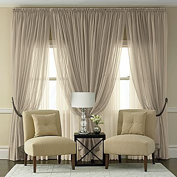 Neutral Curtains, Sheer Drapes, Sheer Curtains Bedroom, Classic Curtains