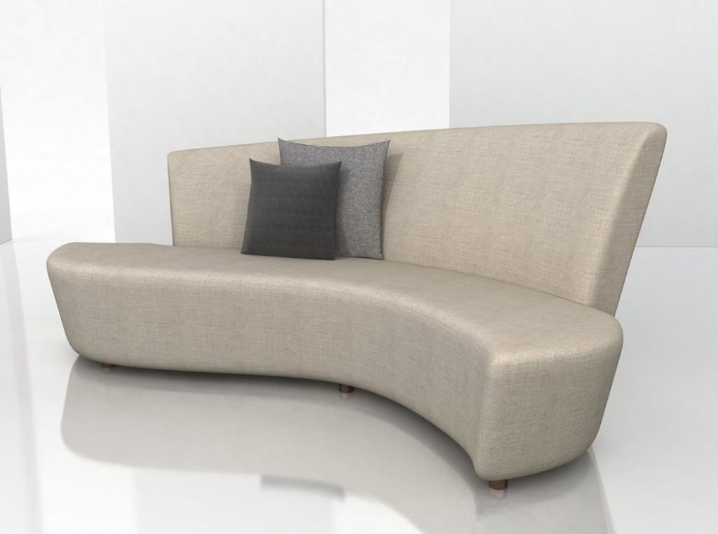 Ultra Modern Small Curved Sofa