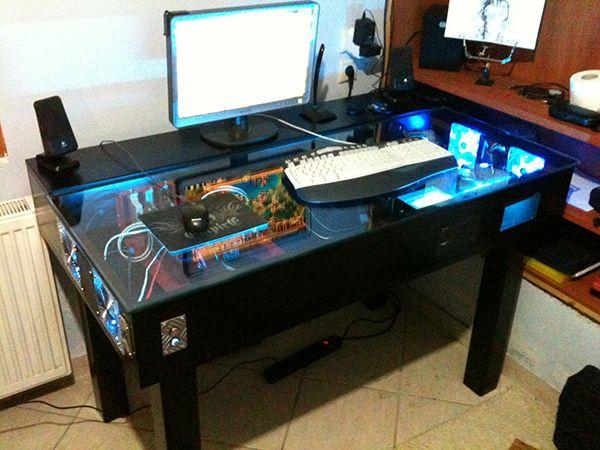 custom gaming desk - Google Search