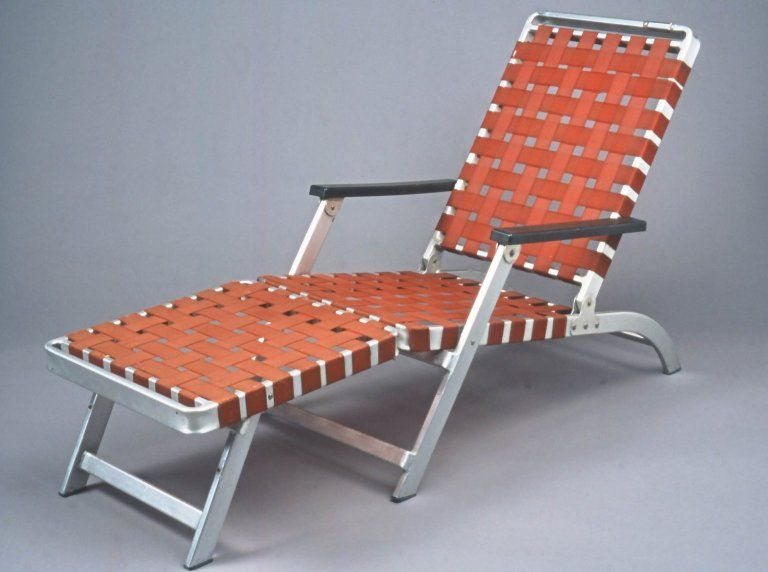 SS United States ocean liner deck lounge chair, 1952, Troy Sunshade Company  | Brooklyn Museum