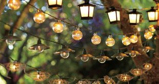 Home Decoration: Cool String Lights Outdoor With Globe Light