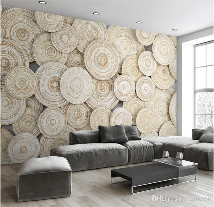 Large Custom Mural Wallpaper Modern Design 3D Wood Texture Living Room TV  Background Wall Decorative Art Wallpaper Wall Covering Mural Wallpaper  Landscape