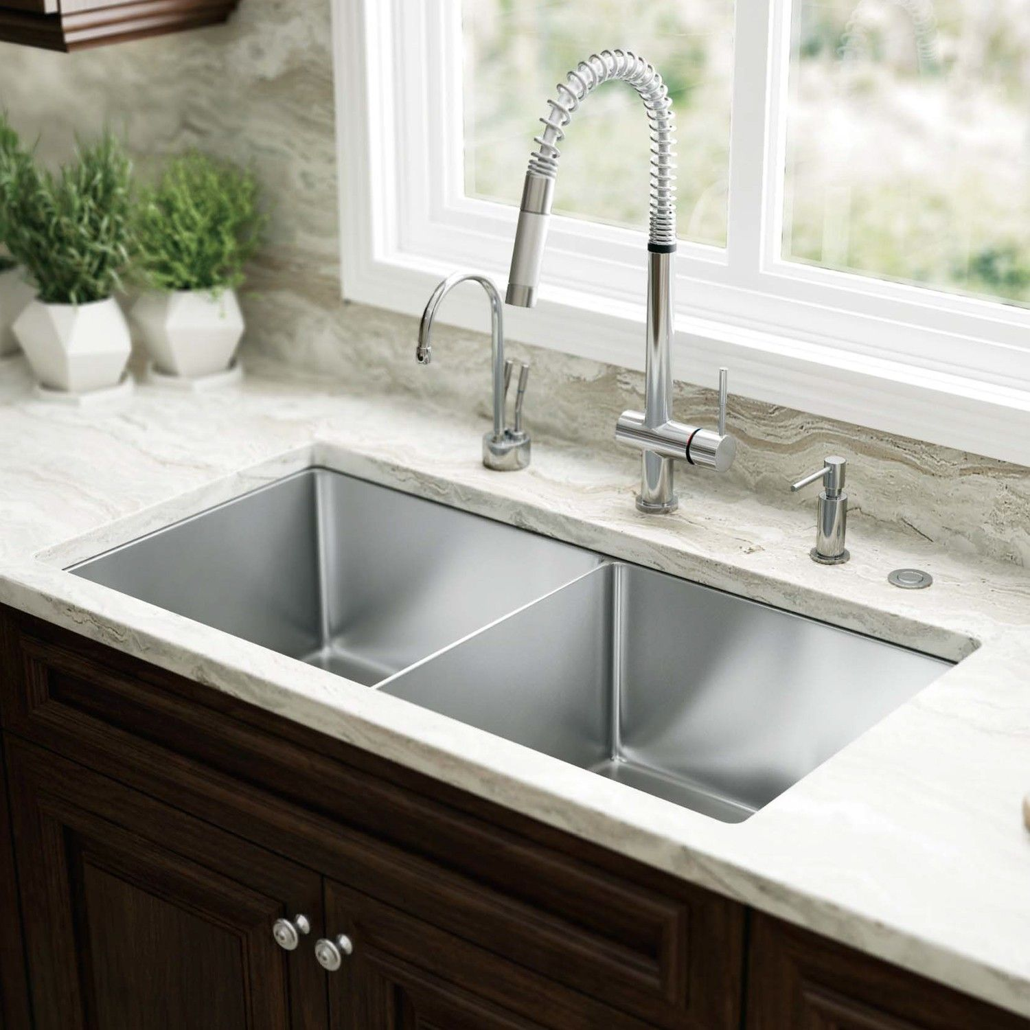 With simple form and sleek aesthetics, the Professional Deep Single Bowl Undermount  Kitchen Sink will