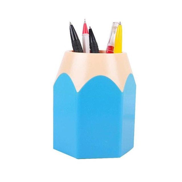 Makeup Brush Vase Pencil Pot Pen Holder Stationery Storage Stationery Desk  Tidy New Design Pen Holder1