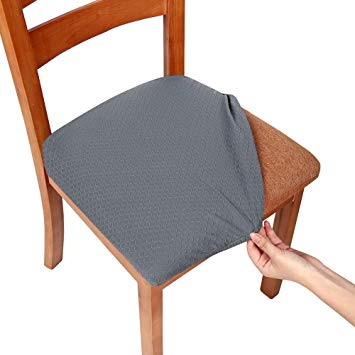 Smiry Stretch Spandex Jacquard Dining Room Chair Seat Covers, Removable  Washable Anti-Dust Dinning