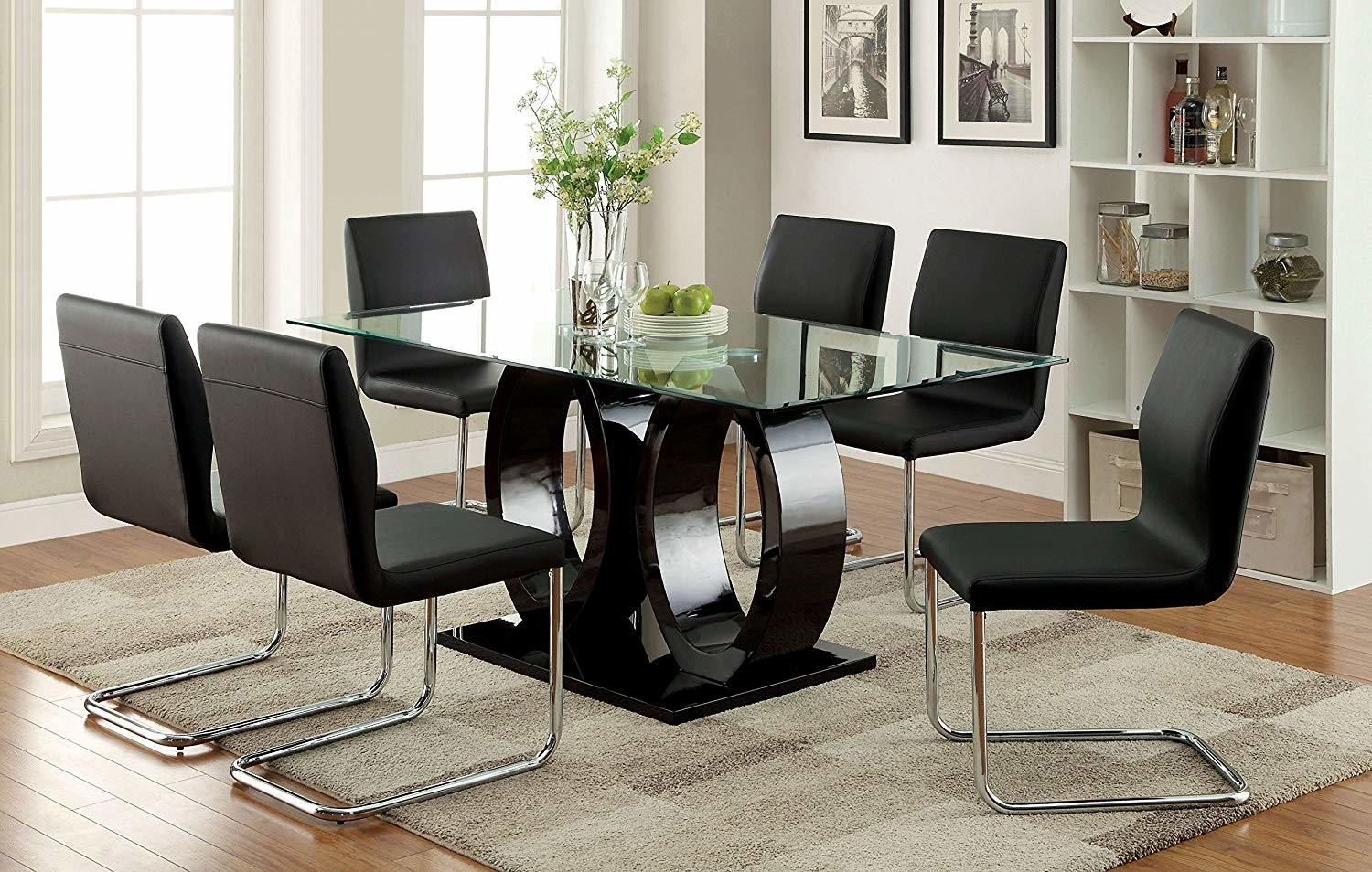 Full Images of Chrome And Glass Dining Table Modern Dining Room Furniture  Glass Topped Dining Room