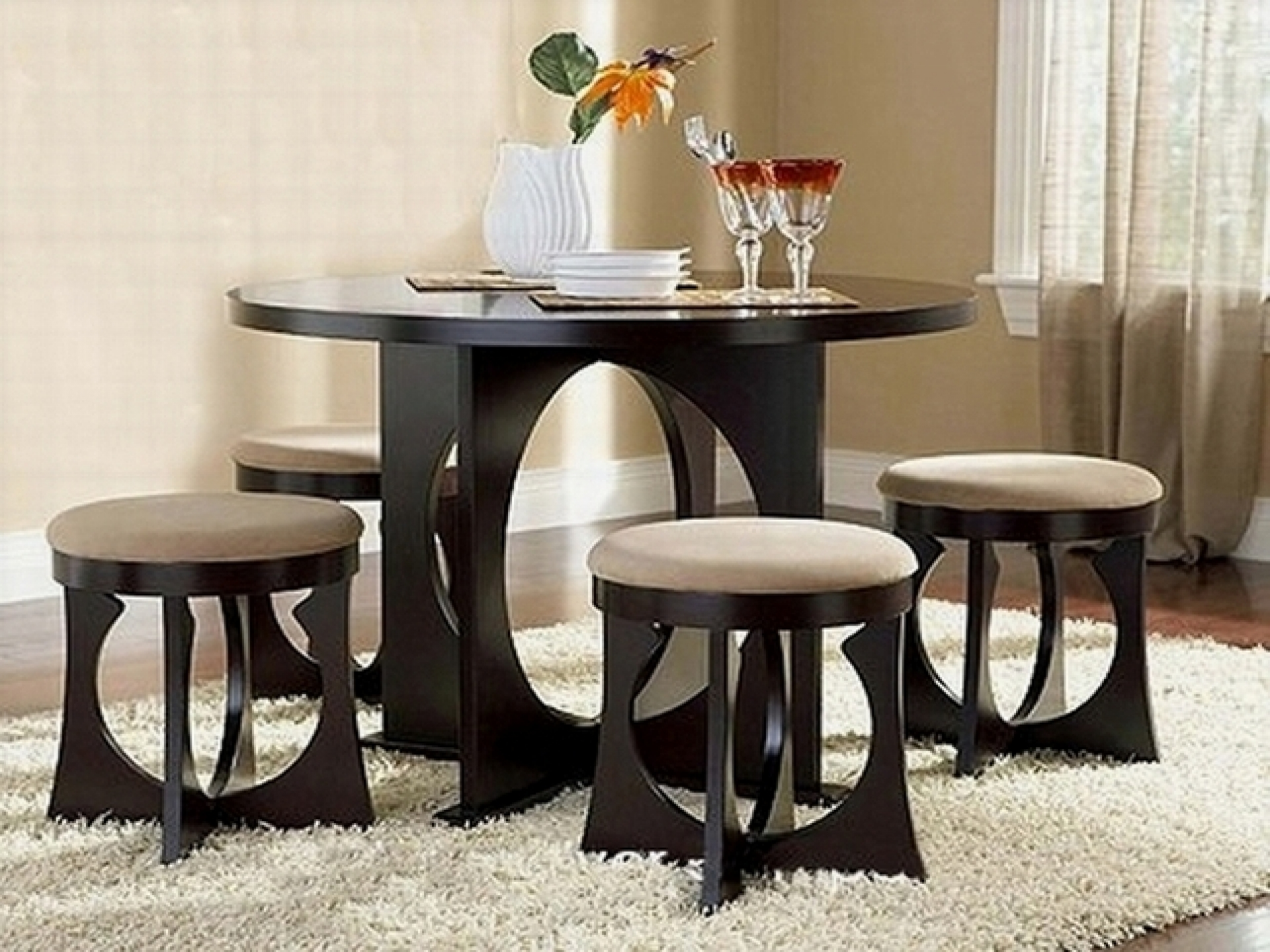 Dining Table And Chairs For Small Rooms Compact Dining Table With Chairs  Small Black Dining Table And Chairs