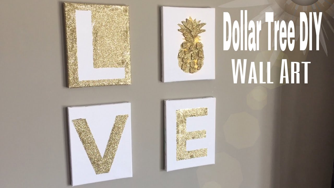 Dollar Tree Wall Art DIY   DIY Bedroom wall decor  DIY office wall decor