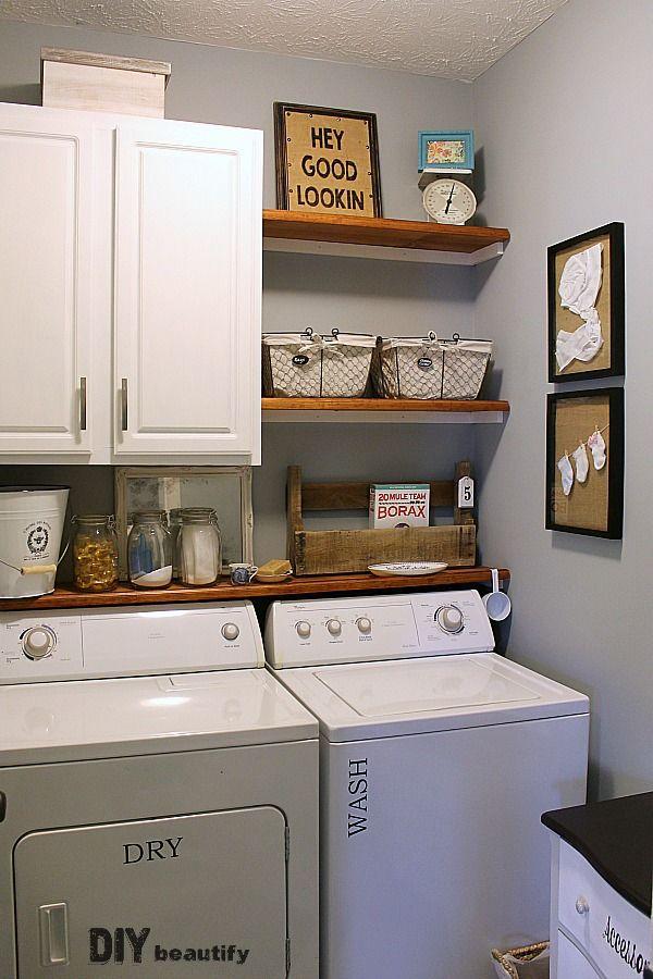Farmhouse Modern Laundry Room Reveal   Laundry Room Ideas   Laundry Room,  Modern laundry rooms, Farmhouse laundry room