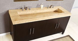 Ceramic Double Sink Vanity Top