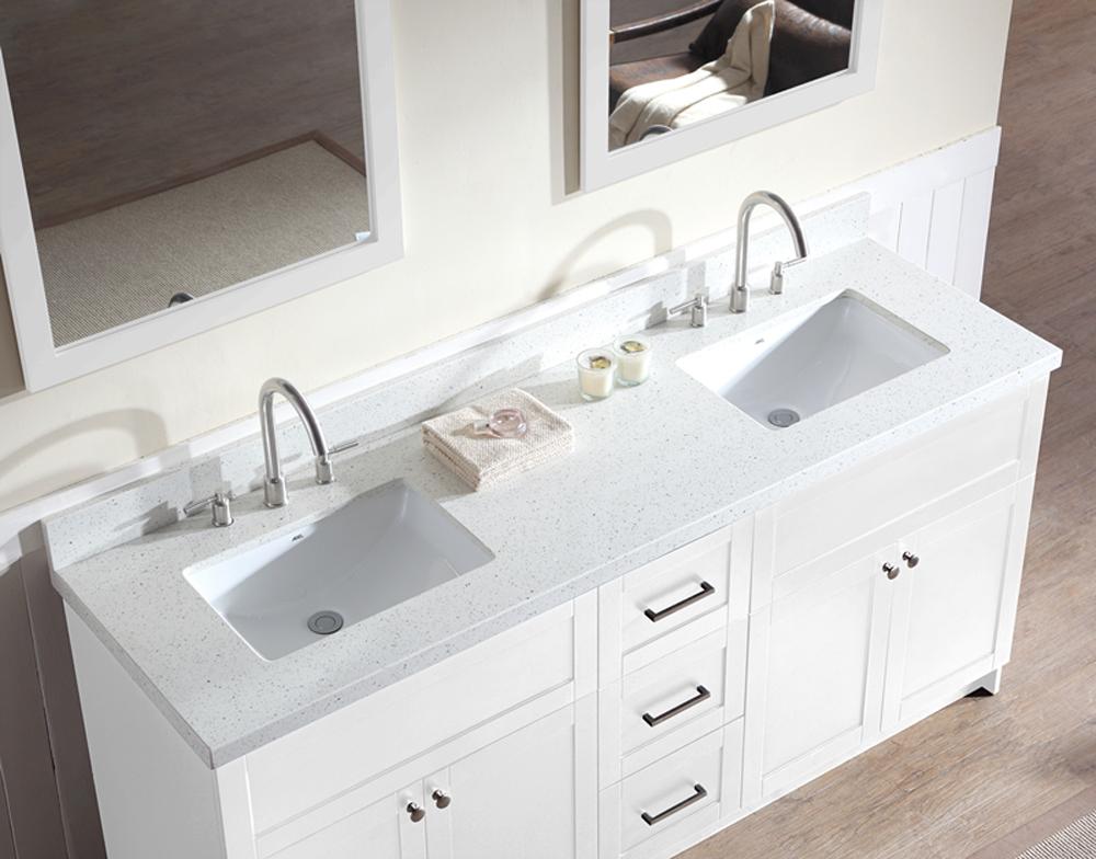 Custom Double Vanity Bathroom