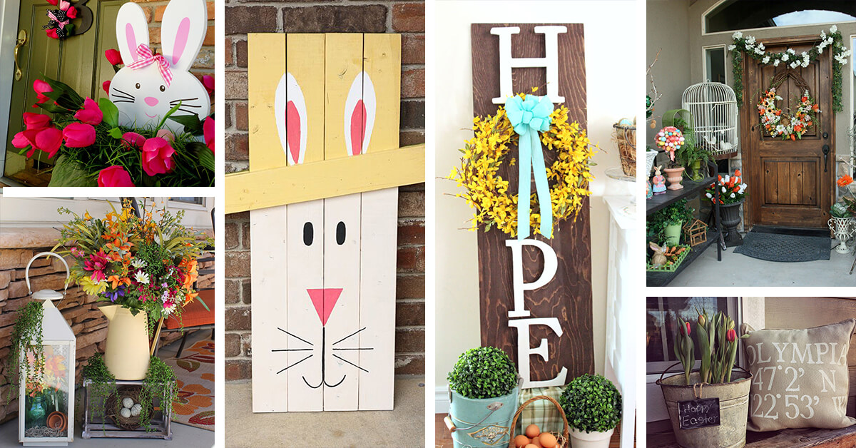 easter decorating ideas to beautify your easter 23 Fun and Adorable Easter Porch Decor Ideas