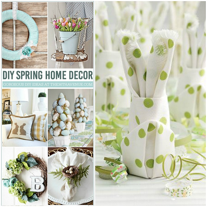 DIY Home Decor Ideas - Beautiful Spring Home Decor Ideas that you can make  at home