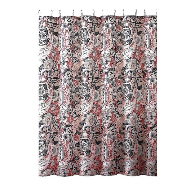 Shop Elegant Gray Pink Taupe Fabric Shower Curtain - On Sale - Free