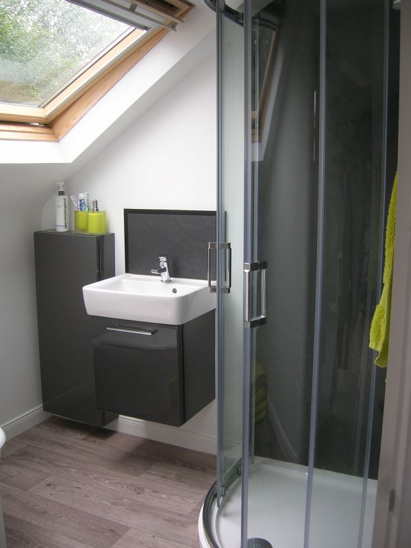Ensuite bathroom on a loft conversion in East Belfast.