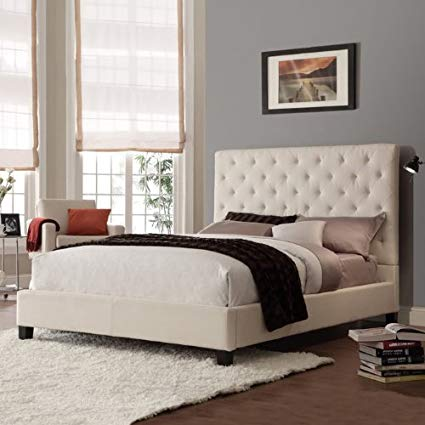 Get a luxurious look with fabric   headboards queen size bed