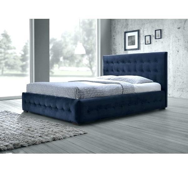 fabric headboards queen headboard size bed studio modern and contemporary  navy blue velvet button tufted platform