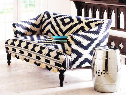 7 Bold Patterned Fabric Sofas for a House | NAMESTAJ | Sofa, Fabric