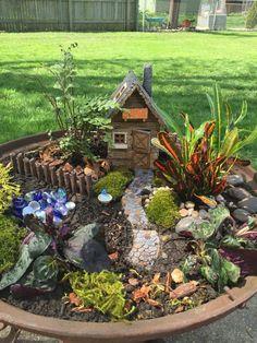 Lovely and Magical Miniature Fairy Garden Ideas 03