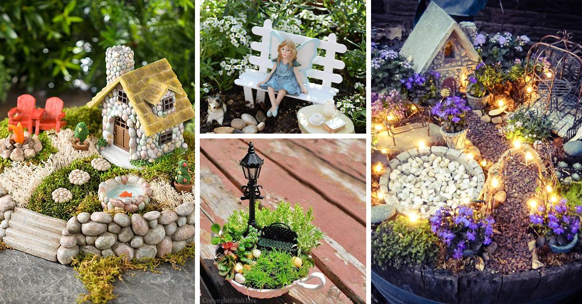 The Top 50 Miniature Fairy Garden Design Ideas