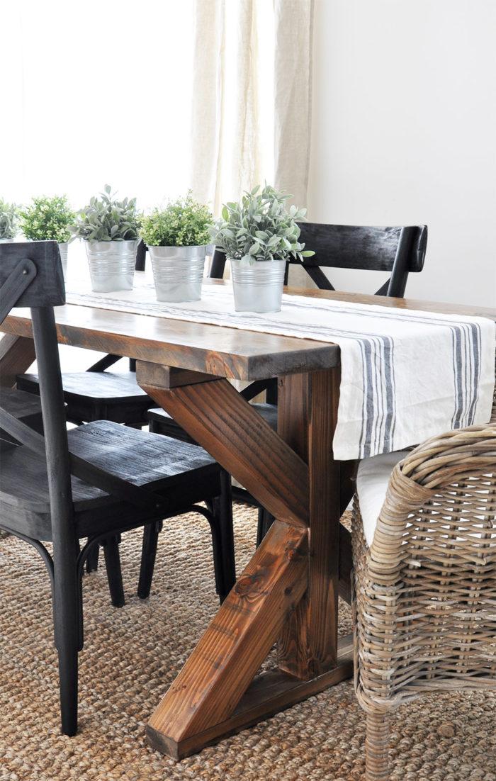 farmhouse style dining room table - farmhouse style dining room table