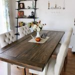 Beautiful long farmhouse style dining   room table