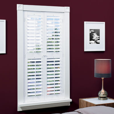 JCPenney Home Faux Wood Plantation Shutters with Mid Rail 2 Panels JCPenney
