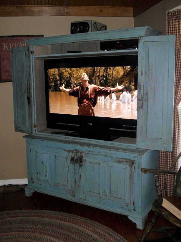 Flat Screen Tv Armoire With Pocket Doors (8 Image) | office furniture ideas  | Tv cabinets, Tv cabinets with doors, Tv cupboard