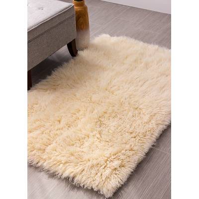 Super Area Rugs Flokati Wool Natural Area Rug & Reviews | Wayfair