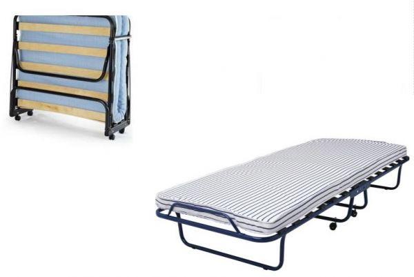Folding bed & foam mattress, roll away bed with Castors, SANDVIKA single bed  size 80 cm x 190 cm. | Souq - UAE